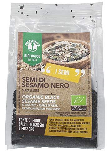 Probios Semi di Sesamo Nero Bio Senza Glutine - [Confezione da 6 x 150 g]
