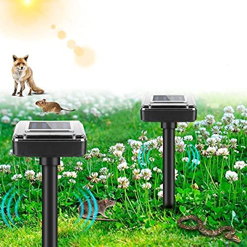 2 Pezzi Repellente Solare per Talpa ad Ultrasuoni, Solare Repellente Impermeabile, Controllo dei Parassiti del Prato, Scaccia Topi Fastidiosi, Talpe, Arvicole, Serpenti, Inoffensivo al Corpo Umano