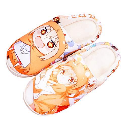 Himouto! Umaru-Chan Korallenvlies Hausschuhe Japanisch Cartoon Animated DOMA Umaru Schuhe Winter 3D Drucken Plüsch Pantoffeln,DOMA Umaru~300