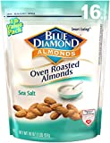 Contains one 16-ounce bag of Blue Diamond oven roasted salted almonds A tasty snack with just the right amount of salt Low in carbs and high in protein Resealable bag makes this a perfect travel snack for adults and children on the go Free of cholest...