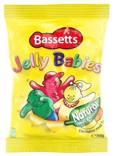 Bassetts Jelly Babies 190g Bag x2