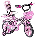 Speedbird 14-T Robust Double Seat Kid Bicycle for Boys & Girls - Age Group 3-6 Years (Pink Colour)