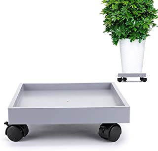 11.4 inch Square Rolling Plant Caddy with Hidden Universal Castors