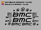 Ecoshirt EL-H1TG-4M1A Aufkleber BMC F167 Vinyl Adesivi Decal Aufkleber públicŸŸŸŸber MTB Stickers Bike, schwarz