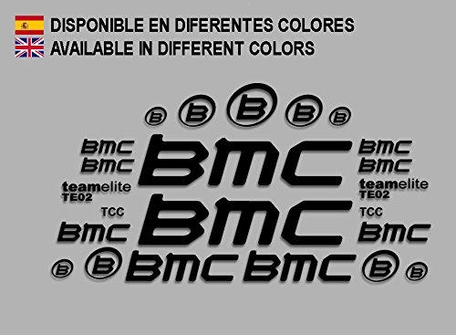 Ecoshirt EL-H1TG-4M1A Pegatinas BMC F167 Vinilo Adesivi Decal Aufkleber Клей MTB Stickers Bike, Negro