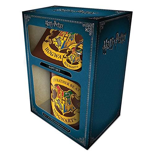 Harry Potter Coffret cadeau - Mug, Coaster, Porte-clef, Multicolor