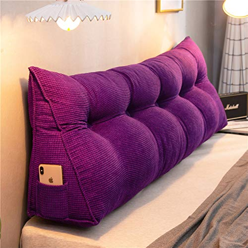 Great Deal! QYN Corn-Velvet Triangular Wedge Headboard Cushion,Body Positioners Bedside Cushion Wash...
