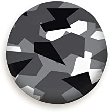 X-Large Spare Tire Cover Gray Geometric Camouflage Abstract Camo Polyester Water Proof Dust-Proof Universal Spare Wheel Tire Cover Fit for Jeep,Trailer, Rv, SUV and Many Vehicle (14,15,16,17 Inch)