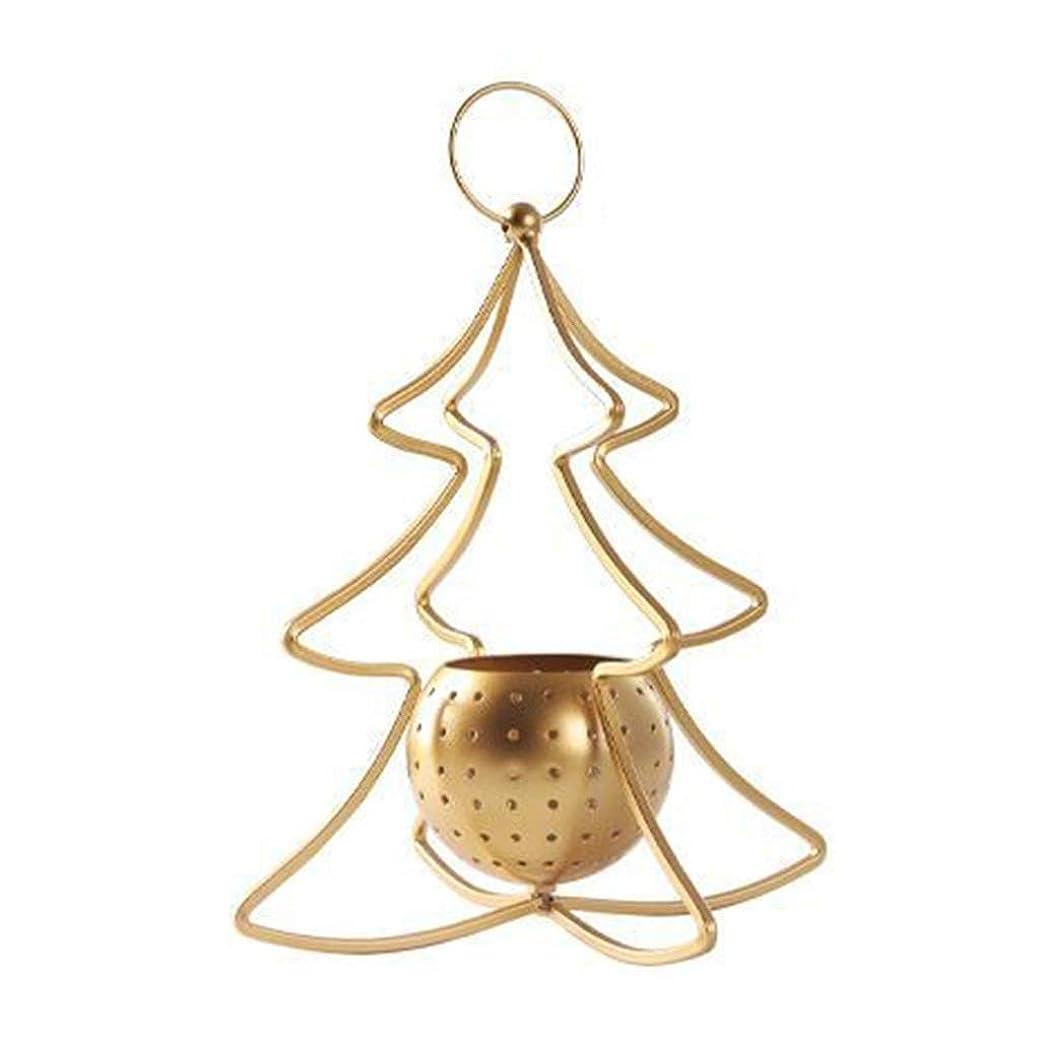 ビュッフェ移植家禽キャンドルスタンド キャンドルホルダーは、奉納キャンドルホルダーは、テーブルの所有者をキャンドルホルダーゴールデン創造クリスマスツリーのキャンドルホルダークリスマスのシーン装飾をキャンドル (Color : Gold, Size : 20*25cm)