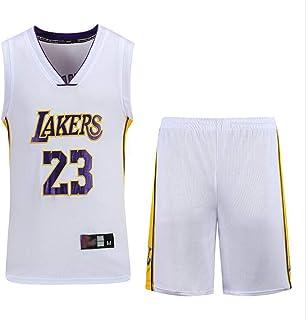 FSBYB Heren Zomer Basketbal Jersey Korte Mouwen T-Shirt + Korte Broek Kleding - Lebron James - Lakers #23 Jersey