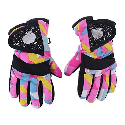 VIcoo kinderhandschoenen, waterdichte winter skiën snowboard handschoenen warme handschoenen voor kinderen volledige vingerhandschoenen strap voor sport, skiën, fietsen - 3