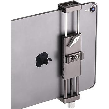 "Metal iPad Holder for Tripod Mount Adapter , 1/4"" Screw, Acra Swiss Rail Mount, Fits iPad 1,2,3,4 Mini Air Pro,Universal Tablet Clamp"