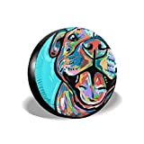 Homlife Spare Tire Cover - 17 Inch Waterproof Universal Wheel Tire Cover Protector - Cute Pit Bull Painting Fit for Jeep,Trailer, RV, SUV and Many Vehicle - 4