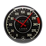 Nostalgic-Art Mercedes-Benz-Tacho Reloj de Pared, carbón, 31 cm