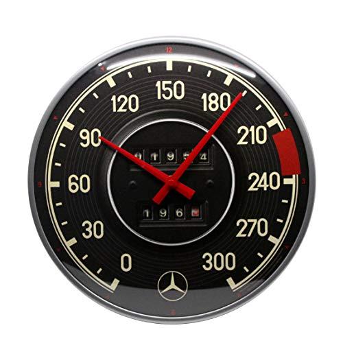 Nostalgic-Art - Reloj de Pared de Estilo Retro con diseño de Mercedes-Benz – Tacho – Idea de Regalo para los Accesorios del Coche – Reloj de Cocina Grande – Reloj de Cocina Vintage – 31 cm