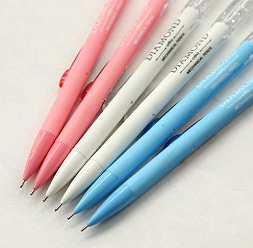 GANSSIA Colorful Fancy Design 0.7mm Mechanical Pencils Pack of 6 Pcs