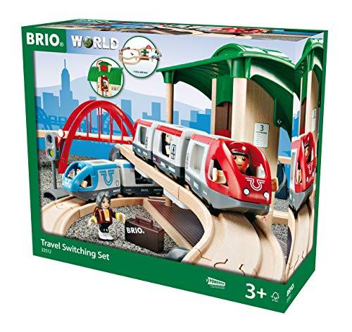 BRIO 33512 Set Ferrovia con Scambio, BRIO World Ferrovie, Età Raccomandata 3+