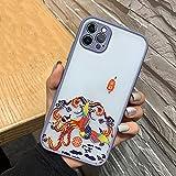 Funda para teléfono en Relieve 3D para iPhone 12 Mini 11 Pro MAX X XR XS MAX Funda rígida de Lujo para PC para iPhone SE 2020 6 6S 7 8 Plus, Gris, para iPhone 12 Pro
