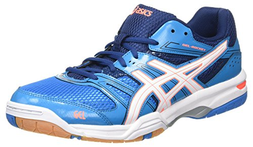 ASICS Gel-Rocket 7, Scarpe da pallavolo Donna, (Blue Jewel/White/Flash Coral), 46 EU