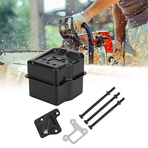 Reemplazo del silenciador, silenciador de Escape Material de Hierro Resistente al Desgaste Accesorio de Sierra de Cadena Alta dureza Resistente a la corrosión para STIHL MS310 MS290 MS390