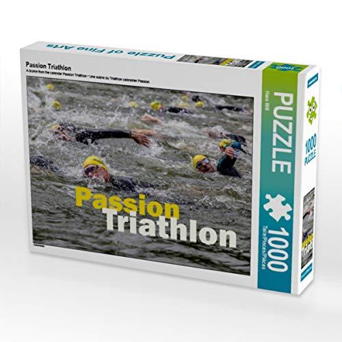 CALVENDO Puzzle Passion Triathlon 1000 Teile Lege-Größe 64 x 48 cm Foto-Puzzle Bild von Haenson