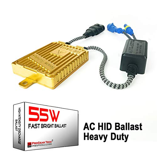 55W Heavy Duty Fast Bright AC Digital HID Xenon Replacement Ballast for 12V NON-CANBUS Vehicles Aftermarket HID System (Pack of 1)