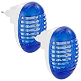 Exbuster Insektenstecker: 2er-Set kompakte UV-Insektenvernichter IV-230 für die Steckdose (Insekten-Vernichter)
