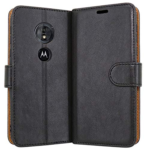 Case Collection Premium Leather Folio Cover for Motorola Moto G6 Play Case Magnetic Closure Full Protection Design Wallet Flip with [Card Slots] and [Kickstand] for Motorola Moto G6 Play Phone Case