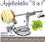 Made for us Profi Alu- Apfelschäler Apfelschneider Apfelentkerner Schälmaschine