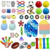 Tawohi Juego de 47 Juguetes sensoriales Fidget, Juguete para aliviar el estrés, Juguetes sensoriales Fidget para el Autismo TDAH, Alivio del estrés para niños y Adultos