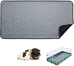 RIOUSSI Guinea Pig Fleece Cage Liners, Highly AbsorbentWashable Guinea Pig Bedding for Midwest and C&C Guinea Pig Cages with Leak-Proof Bottom.for Midwest, Light Gray.