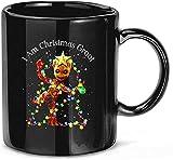 N\A Sono Natale #Groot Lights Blinking Movie TV Regalo in Ceramica Tazze Divertenti Tazze