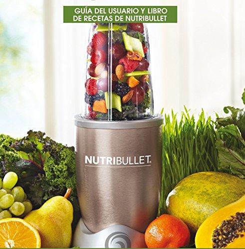 NutriBullet-Smoothie-Maker-mit-Rezeptheft-in-spanischer-Sprache