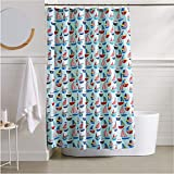 AmazonBasics Sailboat Shower Curtain - 72 Inch