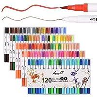 Lemouchet 120 Colors Dual Tip Brush Marker Pens