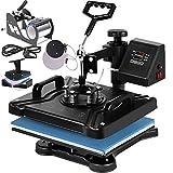 VEVOR Heat Press 12X15 Inch Heat Press Machine 5 in 1 Digital Multifunctional Sublimation T-Shirt Heat Press...