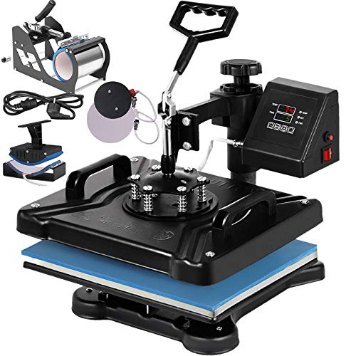 VEVOR Heat Press 12X15 Inch Heat Press Machine 5 in 1 Digital Multifunctional Sublimation T-Shirt Heat Press Machine for T Shirts Hat Mug Cap Plate