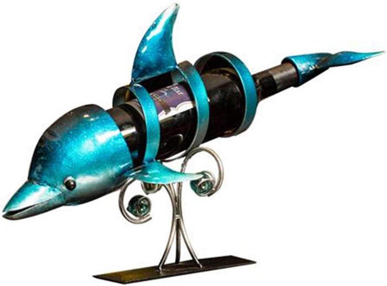venta mundialmente famosa en línea XnZLXS Soporte de de de exhibición de la Sala de Estar de la decoración del gabinete del Vino del Estante del Vino de Dolphin  alta calidad