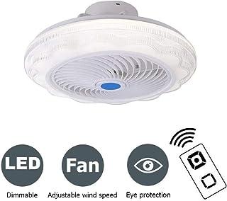 Moderno ventilador LED de techo 72 W Ventilador ajustable con iluminación y control remoto de atenuación ultra silencioso, sala de estar, dormitorio, habitación de los niños, color blanco Ø52 cm