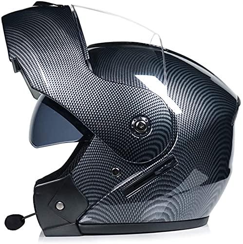 Casco para Moto con Bluetooth,Cascos Modular Flip Up Motocicleta Doble Visera Anti Niebla HD Reducción de Ruido Dot/ECE Aprobado con Altavoz Incorporado para Adultos (Color : 22, Size : XL)