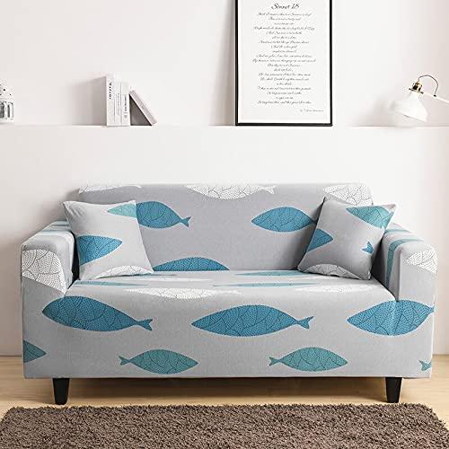 ASCV Fåtölj elastiskt sofföverdrag soffa spandex stretch sofföverdrag för vardagsrum universellt möbelskydd skydd A4 3-sits