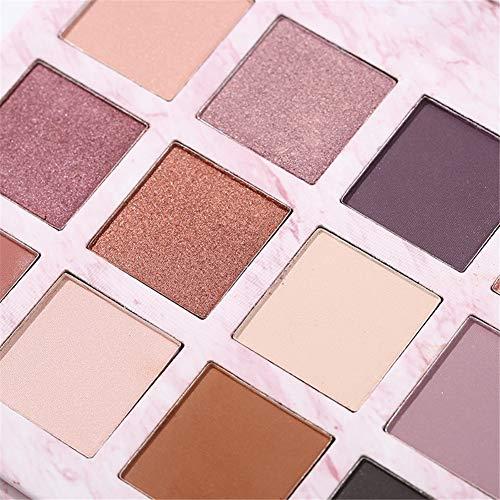 Ombre à paupières-Ombre à paupières 12 couleurs Marbre Palette Ombre à Paupières Débutante Palette de produits cosmétiques pour les yeux mate