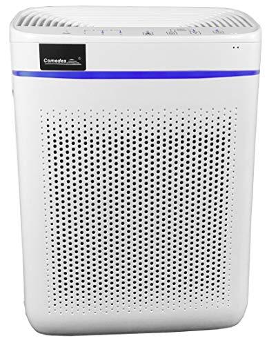 Comedes Lavaero 150 eco - Effizienter 3-Stufen Luftreiniger inkl. Nanosilbervorfilter, Aktivkohle und HEPA-Filter   CADR 250m³/h   Automatikbetrieb   Ideal für Allergiker & Raucher   Räume bis 40m²