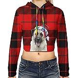 Anatolian Shepherd Dog Christmas Cute Funny Gifts Short Hooded Cropped Sweater Tshirt Crop Tops Hoodies Sweatshirts