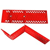 "Dimensions (Each): 22 inches (L) x 7 inches (W) x 1/2 inches (H). Pack of 2. The traction track mats are directional. Please keep the side with indication of ""This Side Up"" facing up. Provides emergency traction aid for your auto tires, gets the car ..."