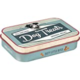 Nostalgic-Art 82201 PfotenSchild - Dog Treats Blue |Leckerli-Dose| Leckerlis-Box | für Unterwegs | To Go