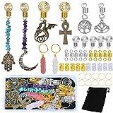 53 Pcs Hair Jewelry Dreadlock Loc Jewelry for...
