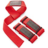 WARM BODY COLD MIND Lifting Wrist Straps for Olympic Weightlifting, Powerlifting, Bodybuilding,...