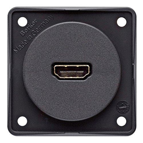Berker HDMI-stopcontact Integro antraciet mat SB