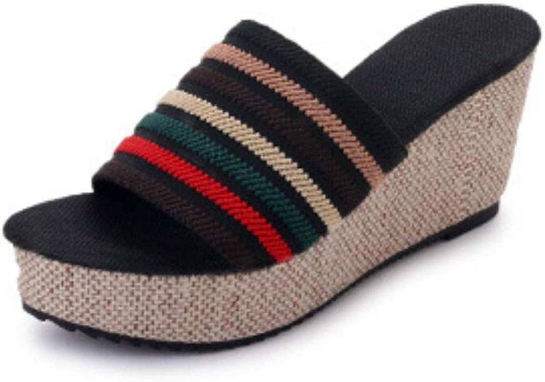 Wedge Slide Sandal for Womens Fashion Platform Summer Beach Slip-On Slipper